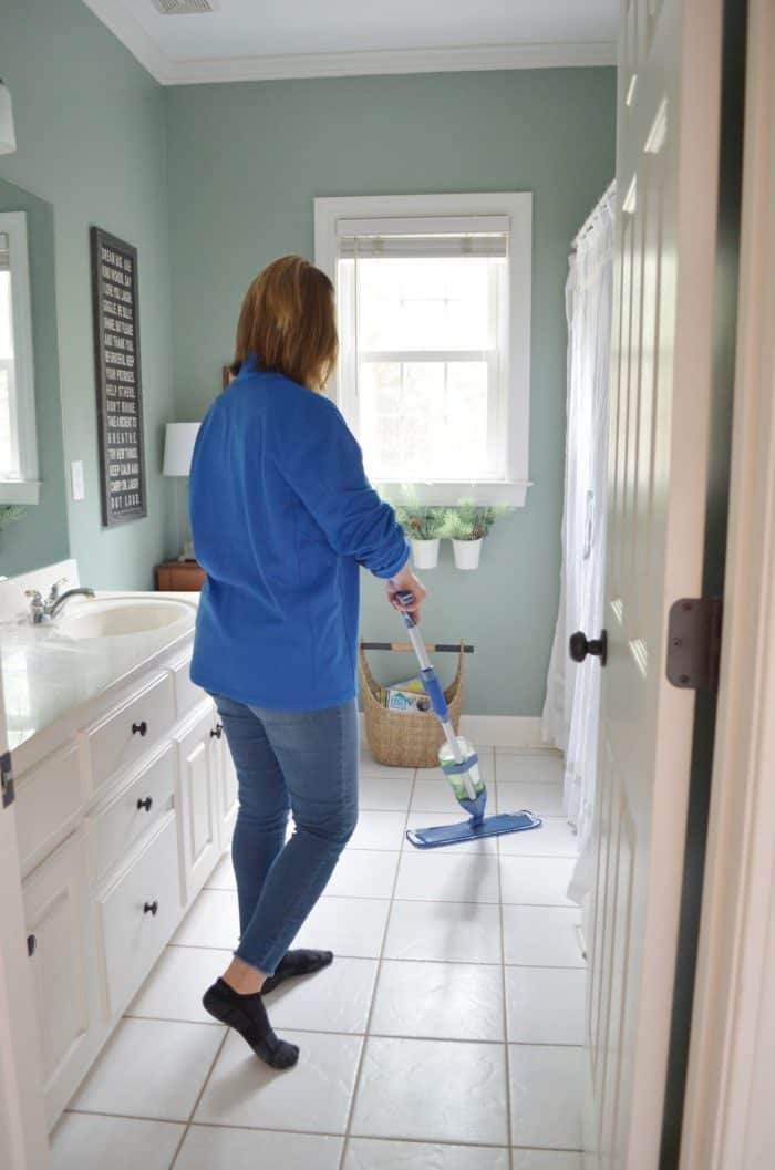 Creating a simple habit with an easy to use mop for my tile floors.