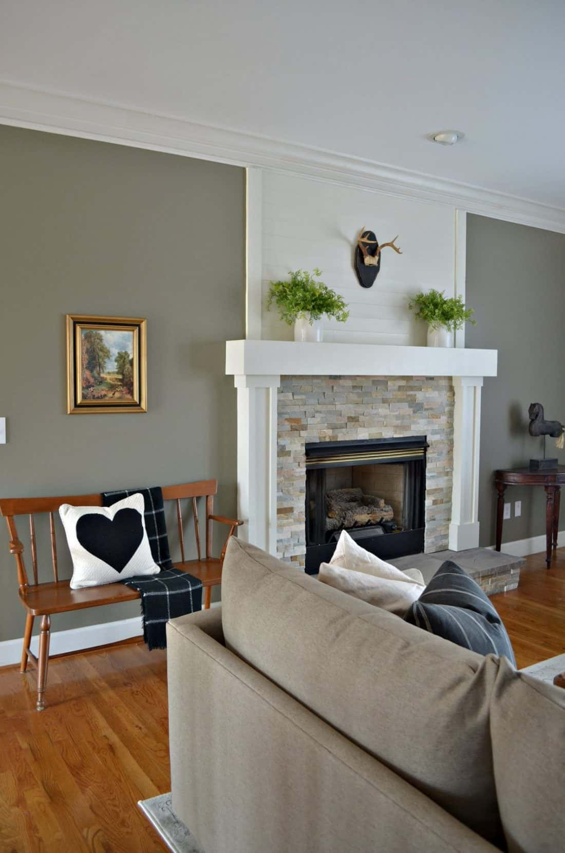 Mixing styles in this living room makeover make it a great space to relax.