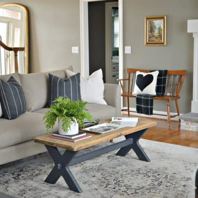 Living Room Makeover featuring Bassett Furniture.