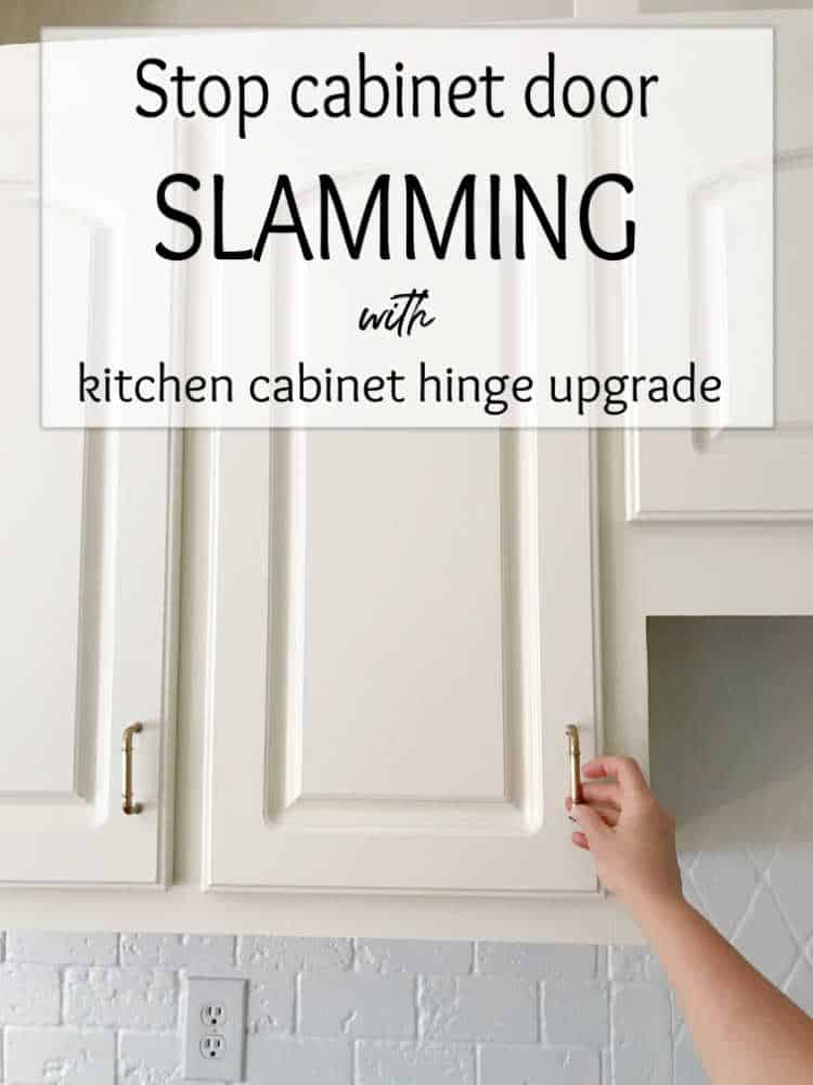Kitchen cabinet hinge upgrade graphic