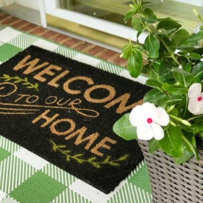 Small Porch Welcome mat layered rug