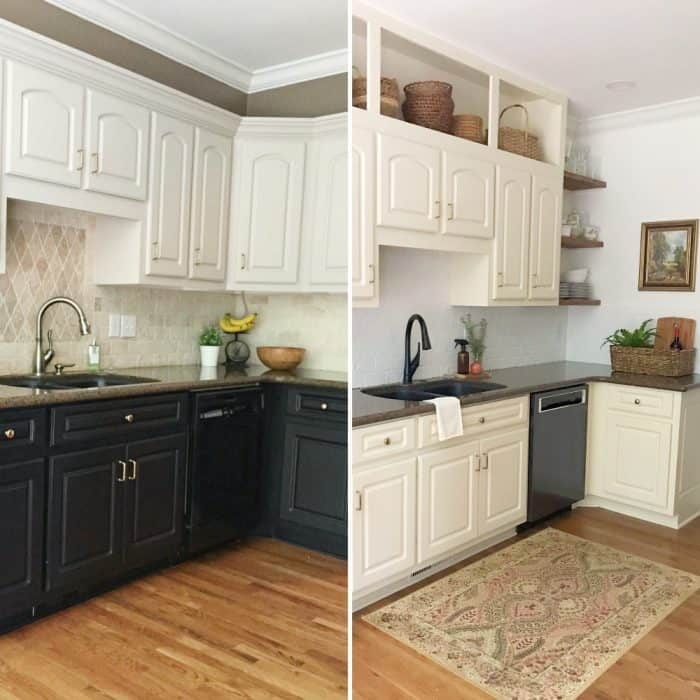 DIY cabinet redesign makeover
