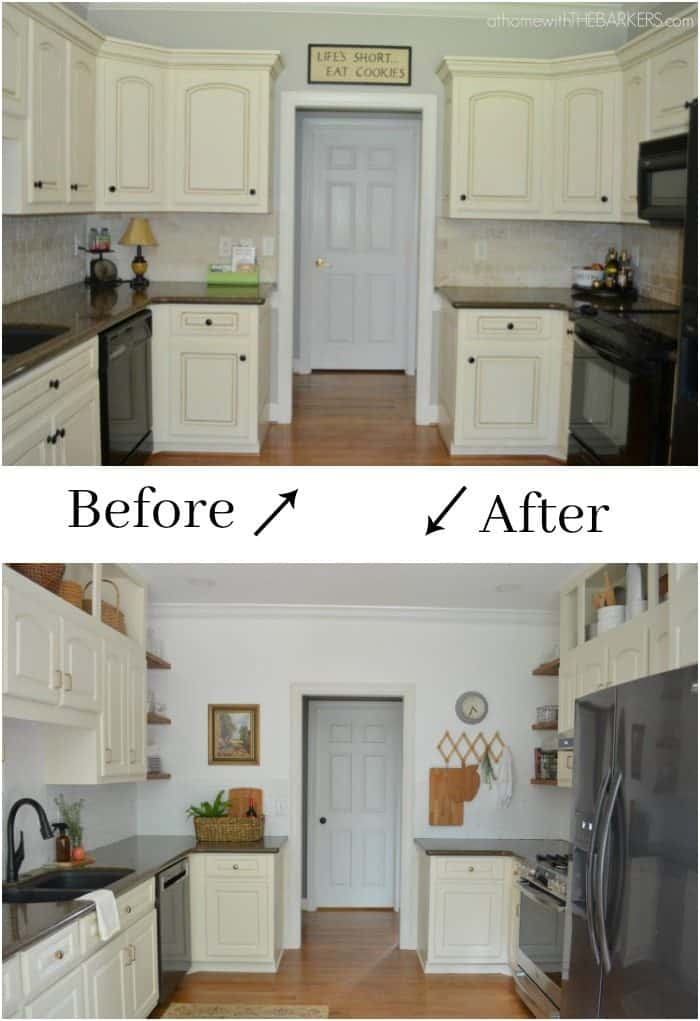 DIY Kitchen Before and After