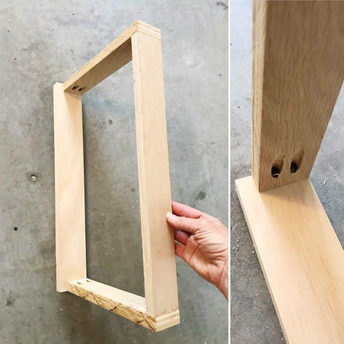 Cabinet facelift using pocket holes