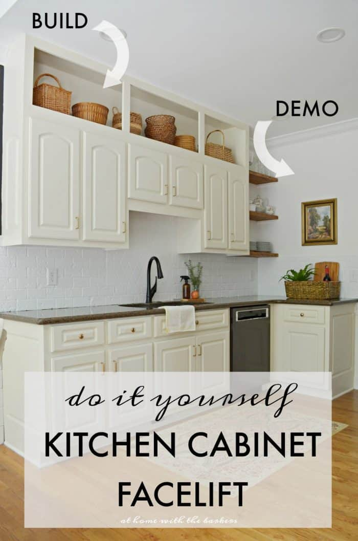 Kitchen Cabinet Facelift Graphic for Pinterest