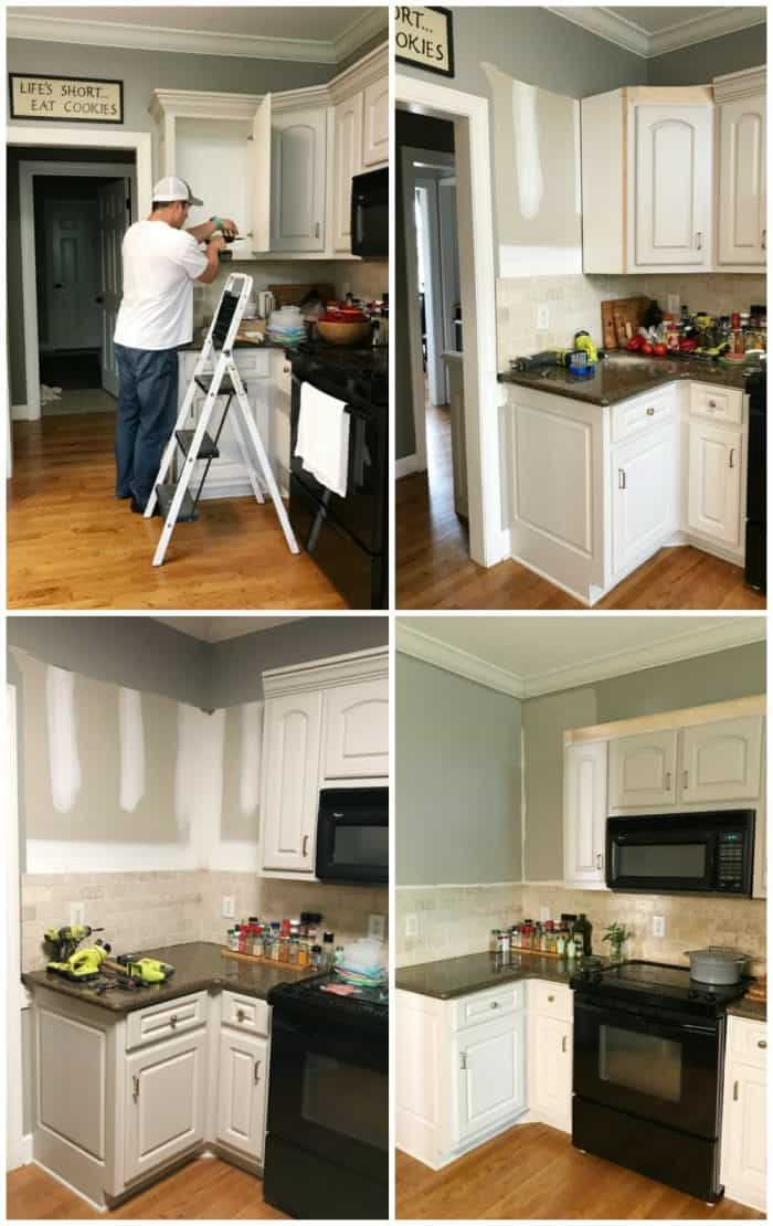 Kitchen Cabinet Facelift demo phase