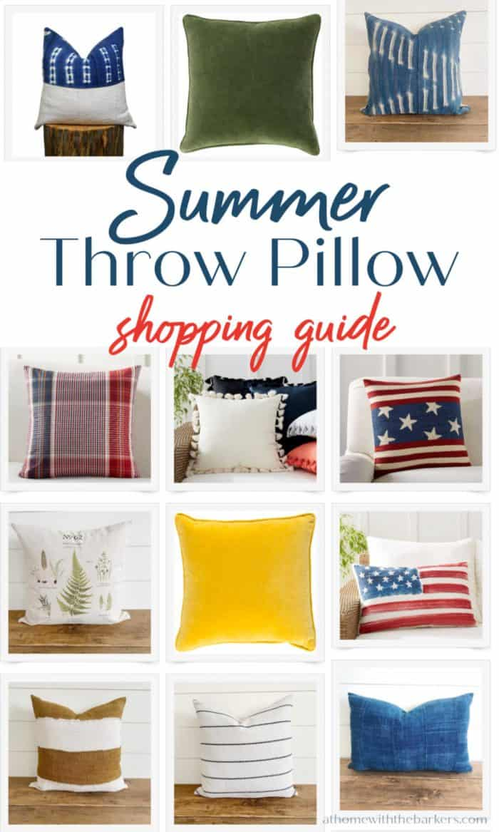 Throw pillows for summer decor
