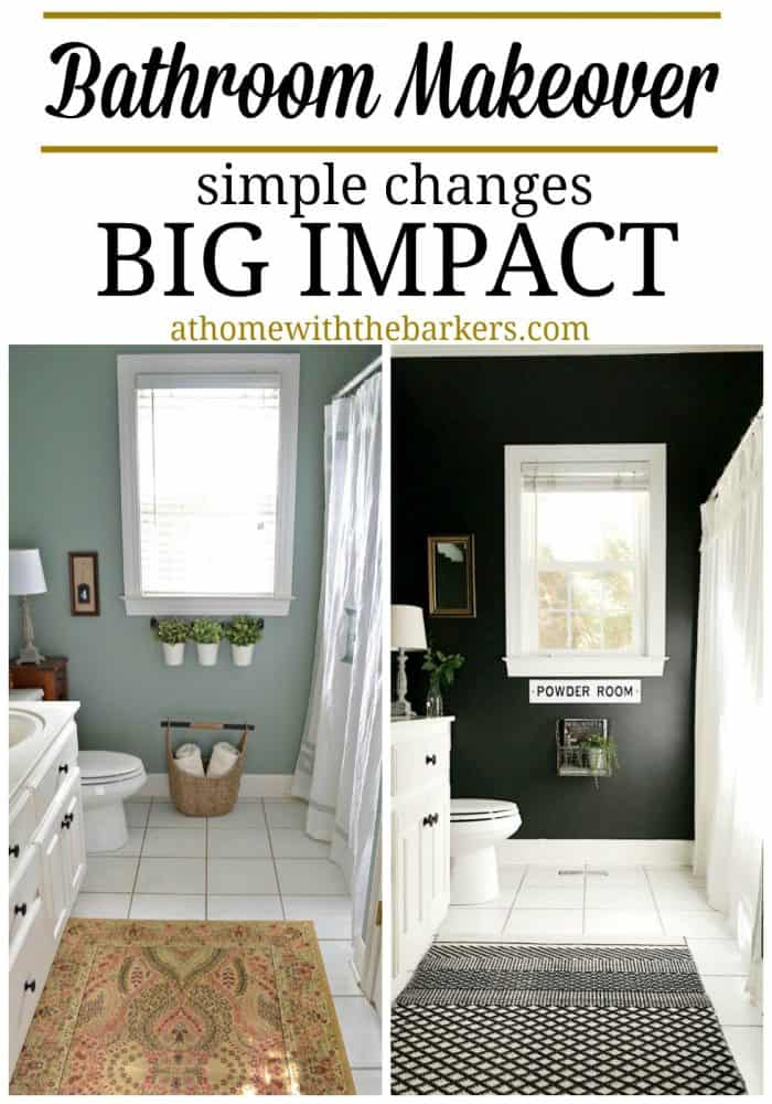 Bathroom Makeover With Black Painted Walls At Home The Barkers