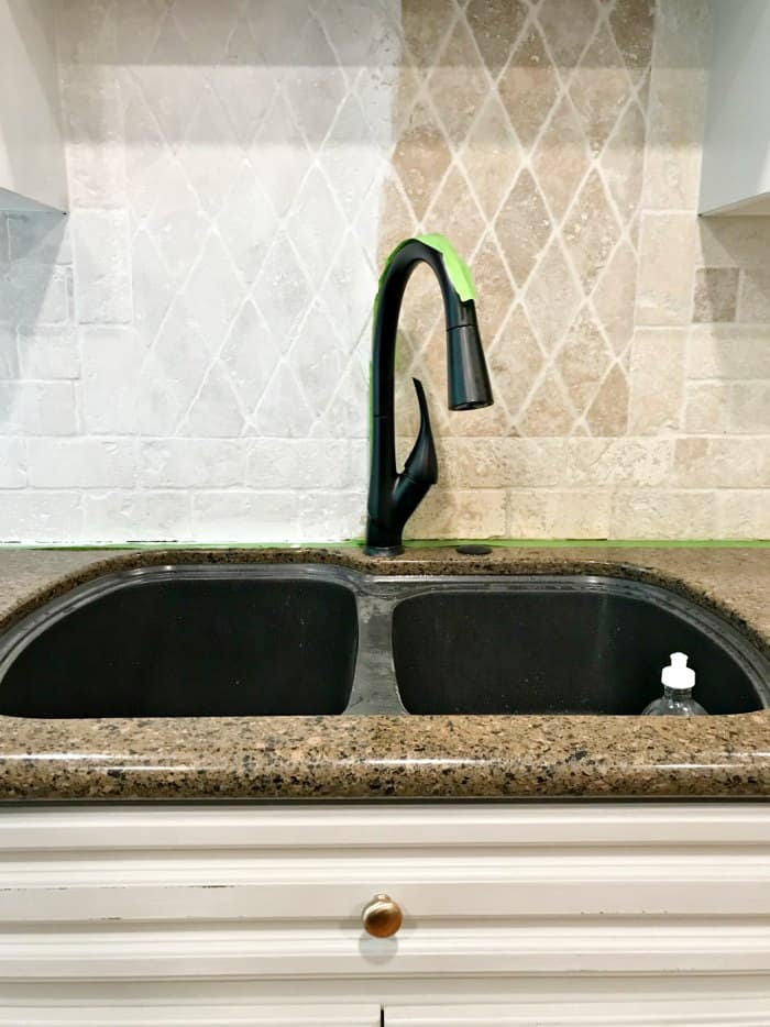 3 Simple Steps To Paint A Stone Backsplash At Home With The Barkers