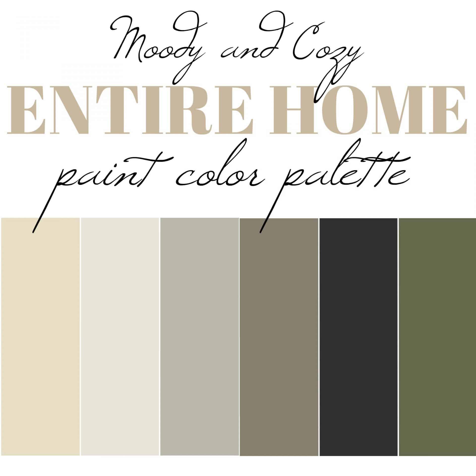Our entire home paint color palette