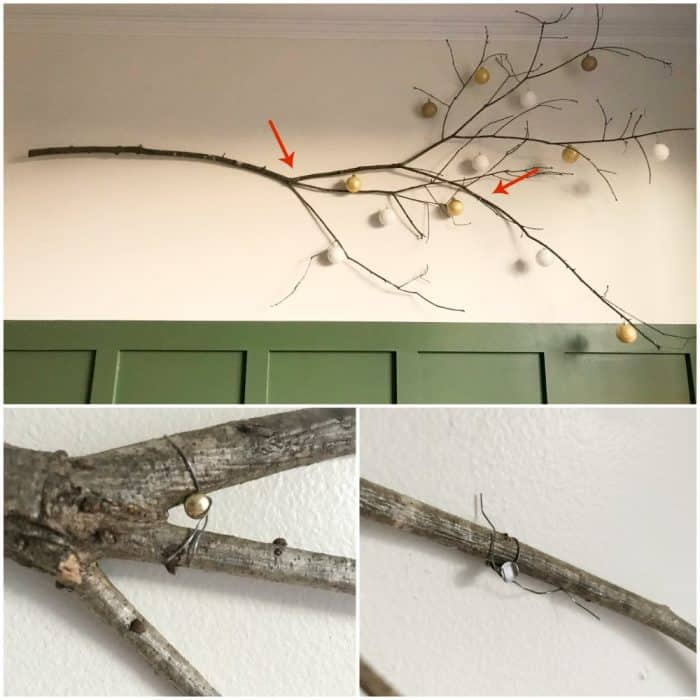 branch art for dining room holiday decor