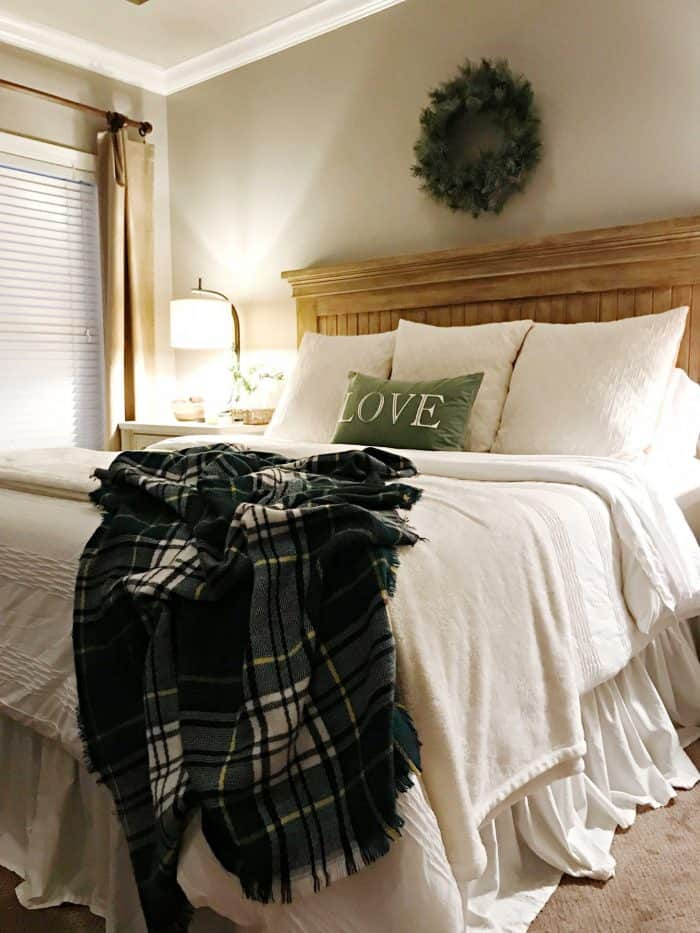 Master Bedroom simple Christmas decor