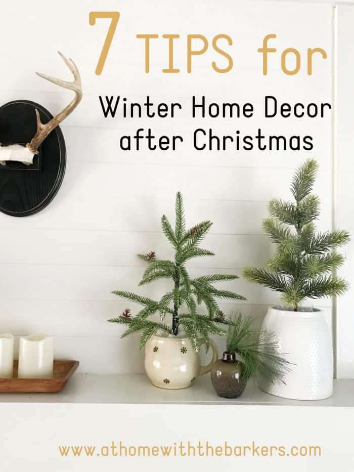 Winter decor tips