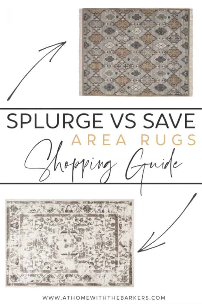 Splurge vs Save Area Rug Shopping Guide