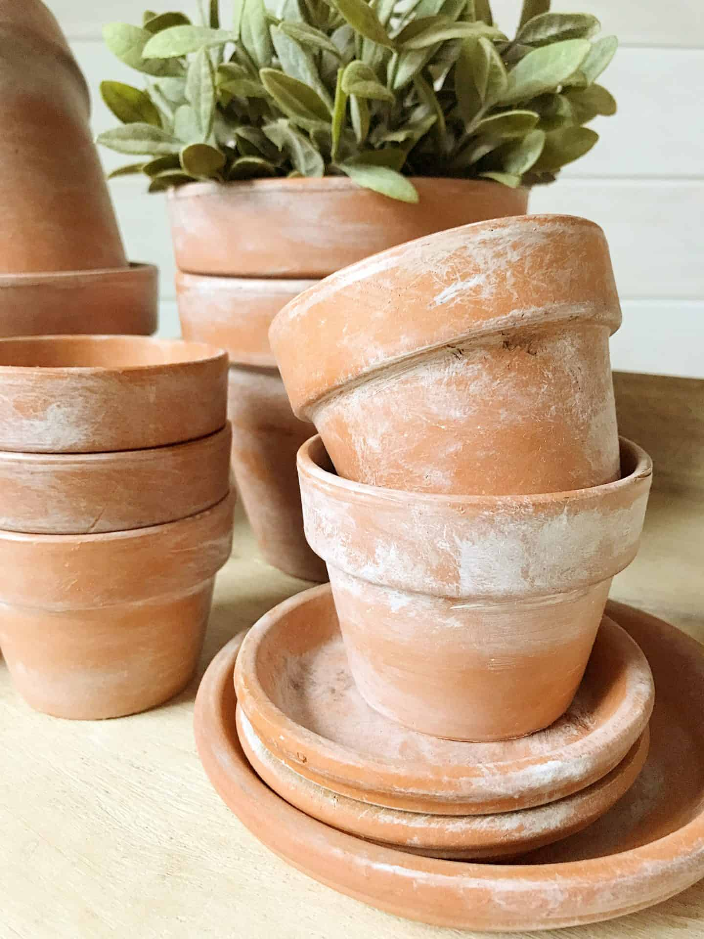 How to age terra cotta pots using paint