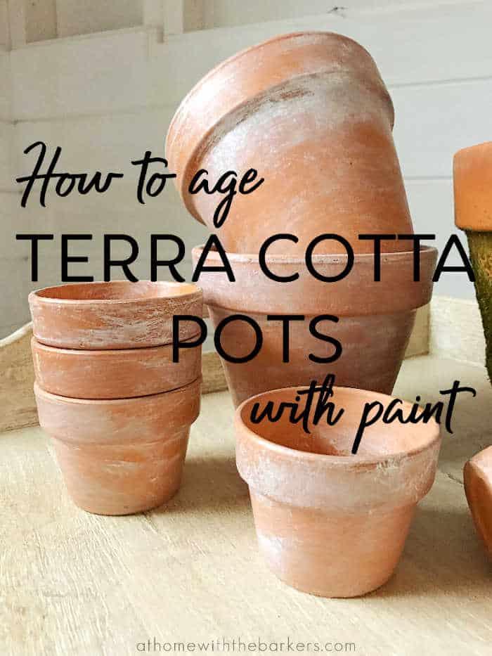 DIY aging terra cotta pots