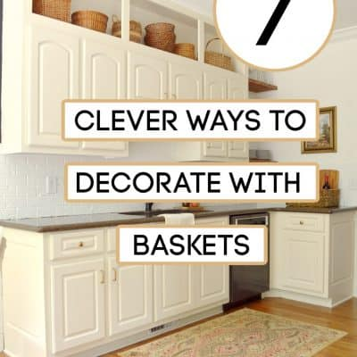decorate with baskets