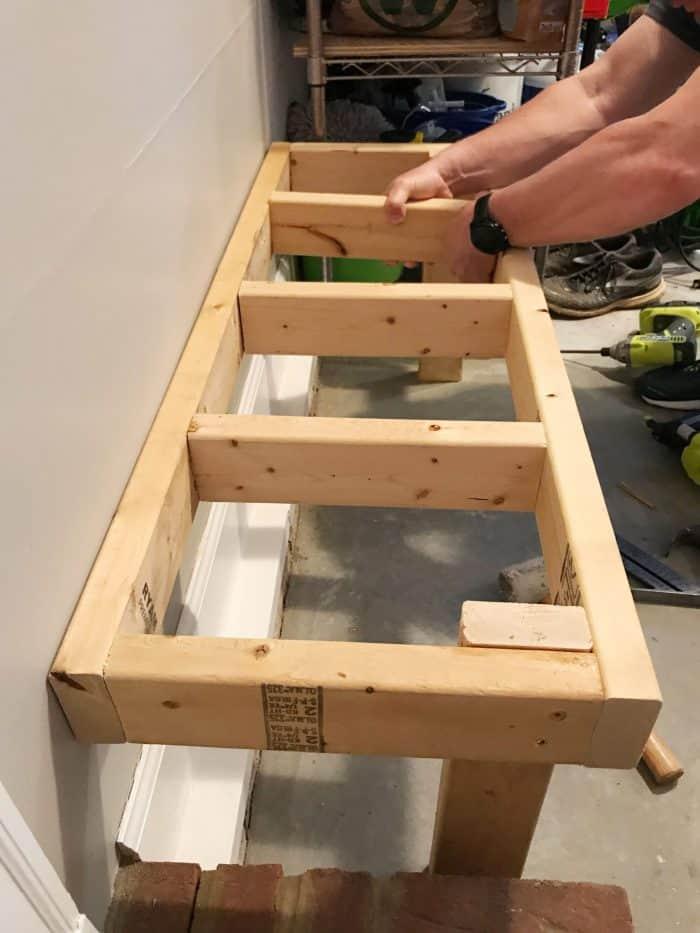 Garage Entry DIY bench