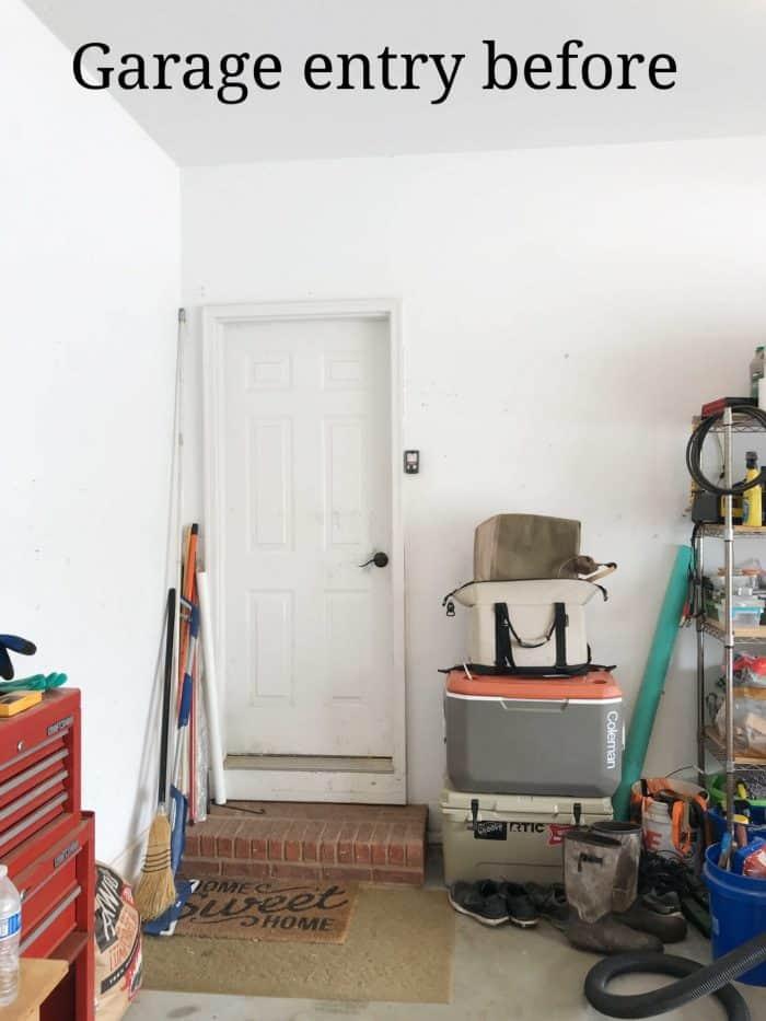 garage entry makeover before