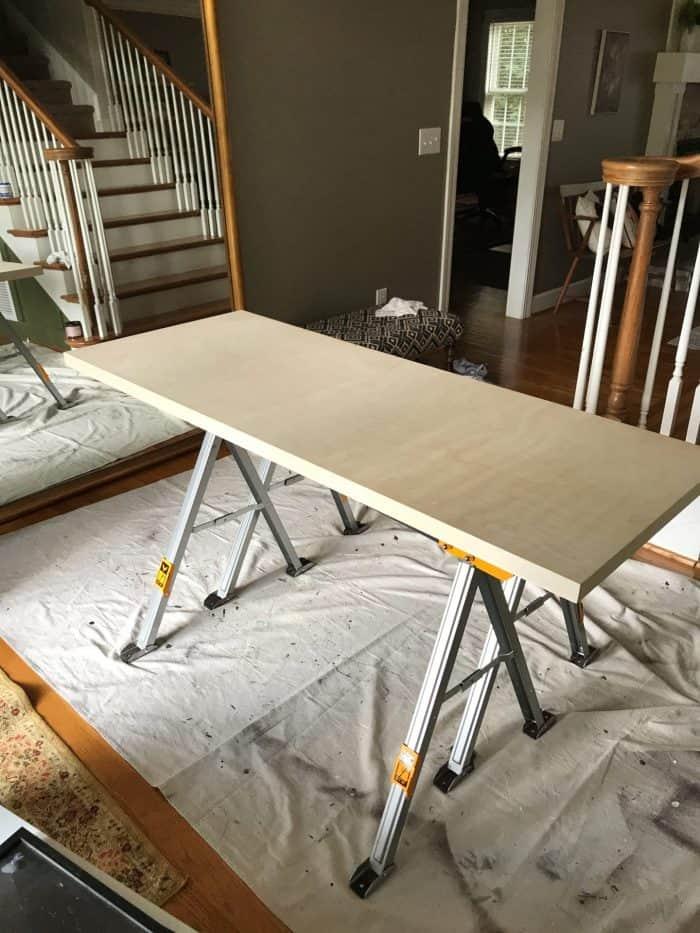 birch plywood desk top