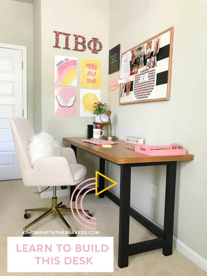 Learn how to build wood desk