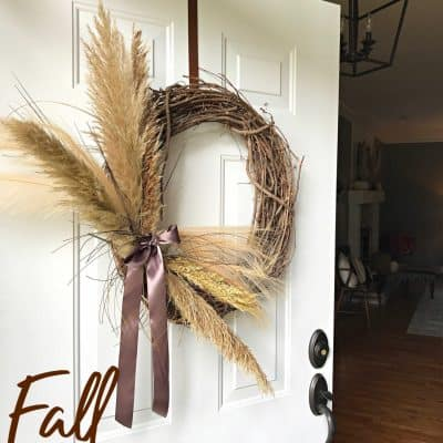 DIY Pampas Grass Wreath Pin