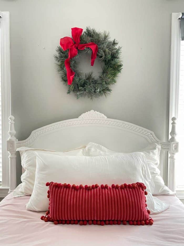 Red Pink Christmas Bedroom decor