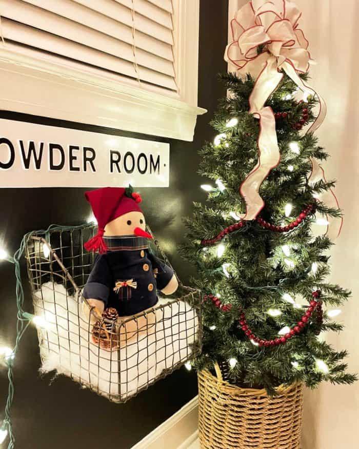 Black Bathroom Christmas