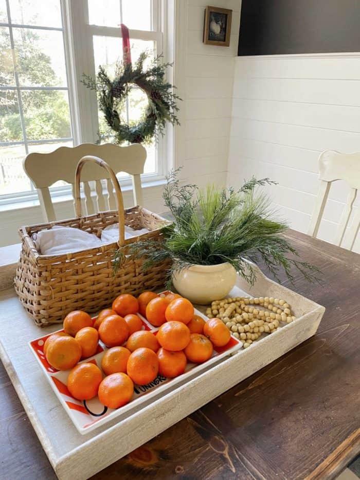 Christmas Table everyday centerpiece