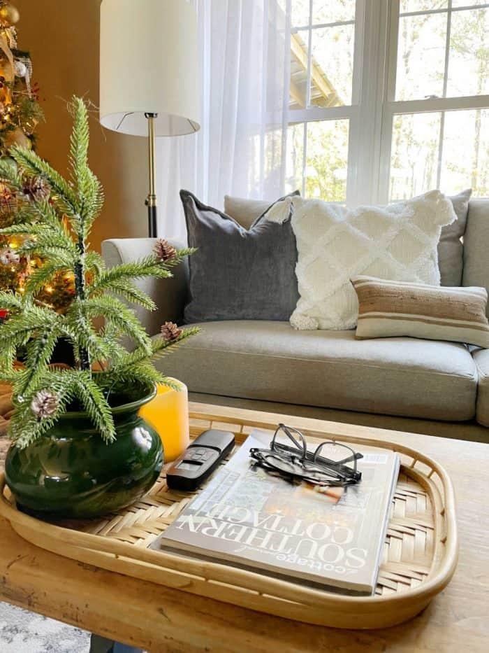 Christmas decor coffee table