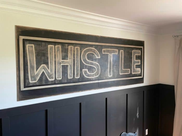DIY wood whistle sign