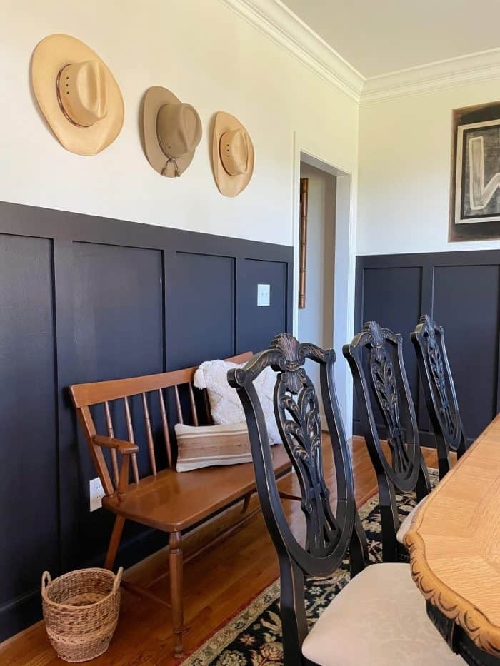 black board and batten painted walls