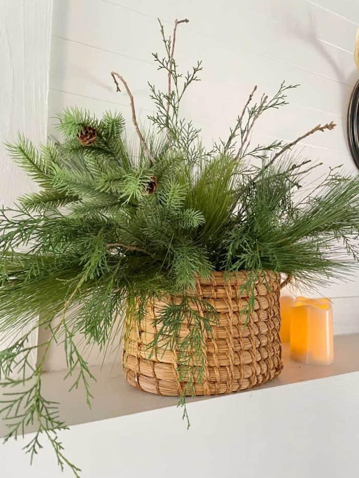 DIY green arrangement
