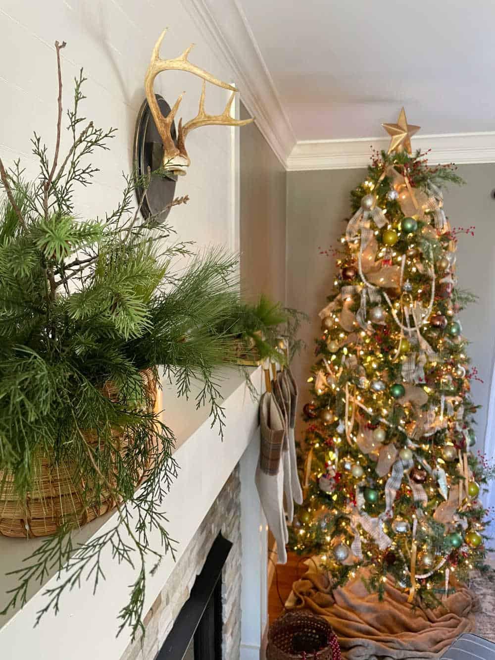 2020 Christmas Home Tour Main Living Spaces