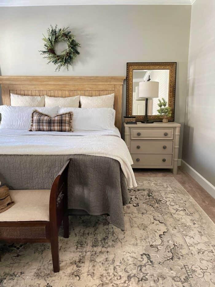 Christmas Decor Master Bed