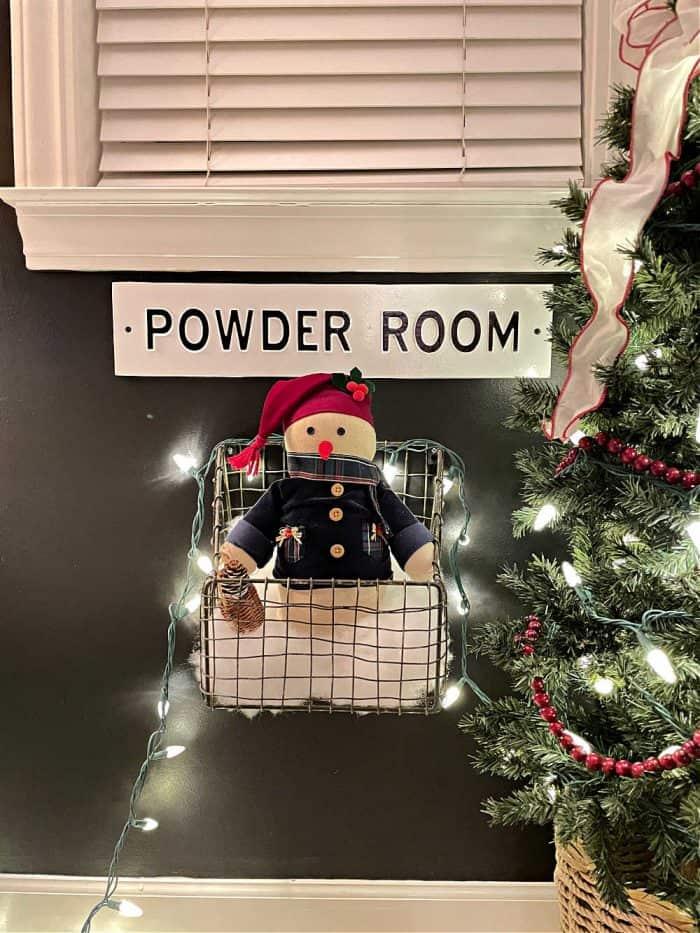 Christmas in the bathroom