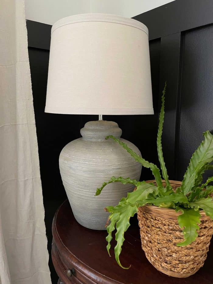 DIY terra cotta painted lamp
