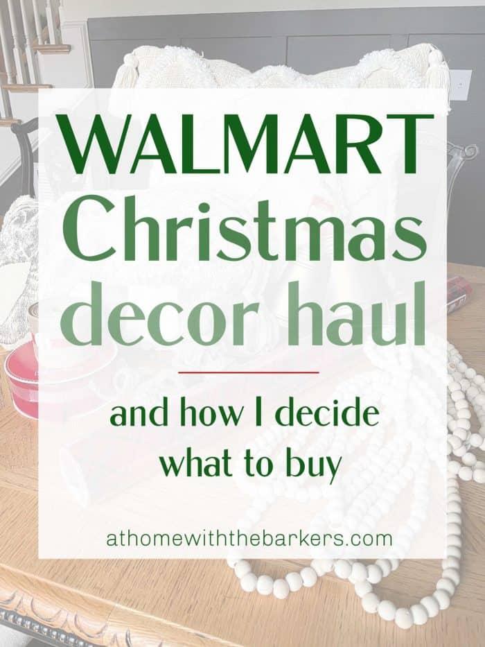 Walmart Christmas Decor Haul Graphic