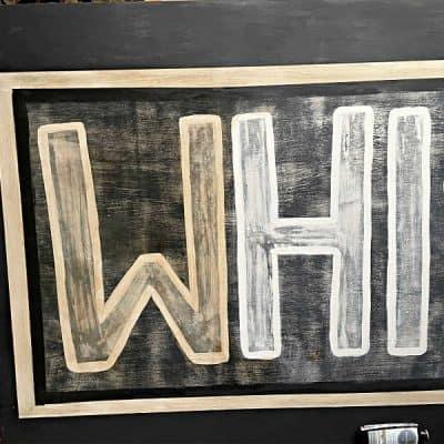 DIY Vintage Look Wood Sign Dark Wax