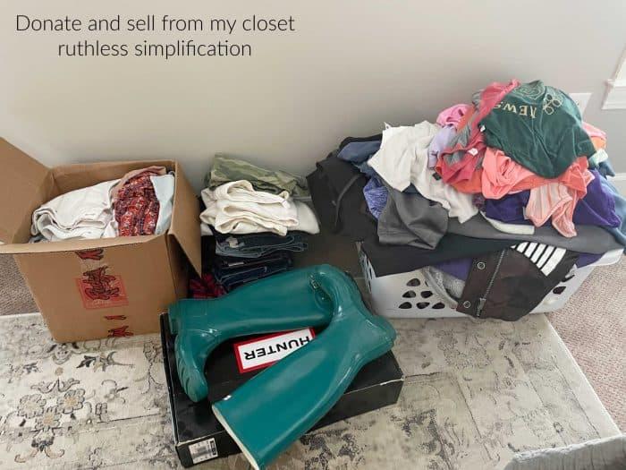 Decluttering donation