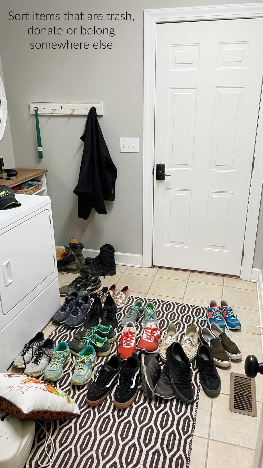 declutter your garage entry