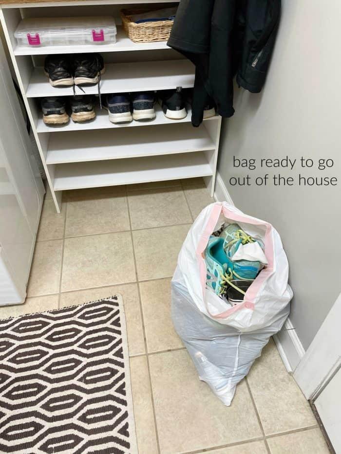 simplified coat shoe drop zone