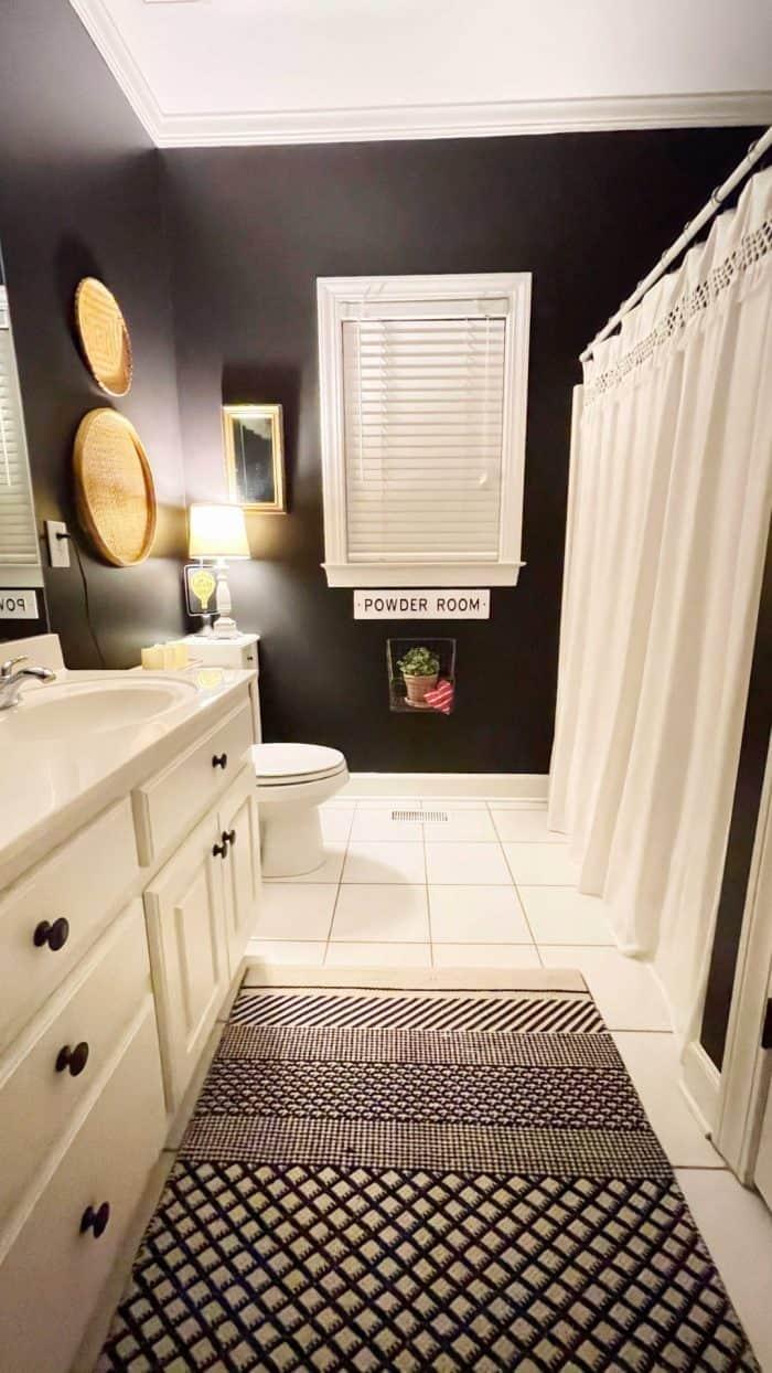 DIY heart sachets with essential oil bathroom decor