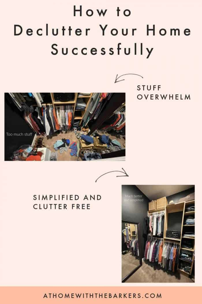 how to declutter successfully