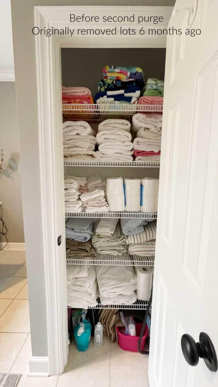 Declutter your linen closet