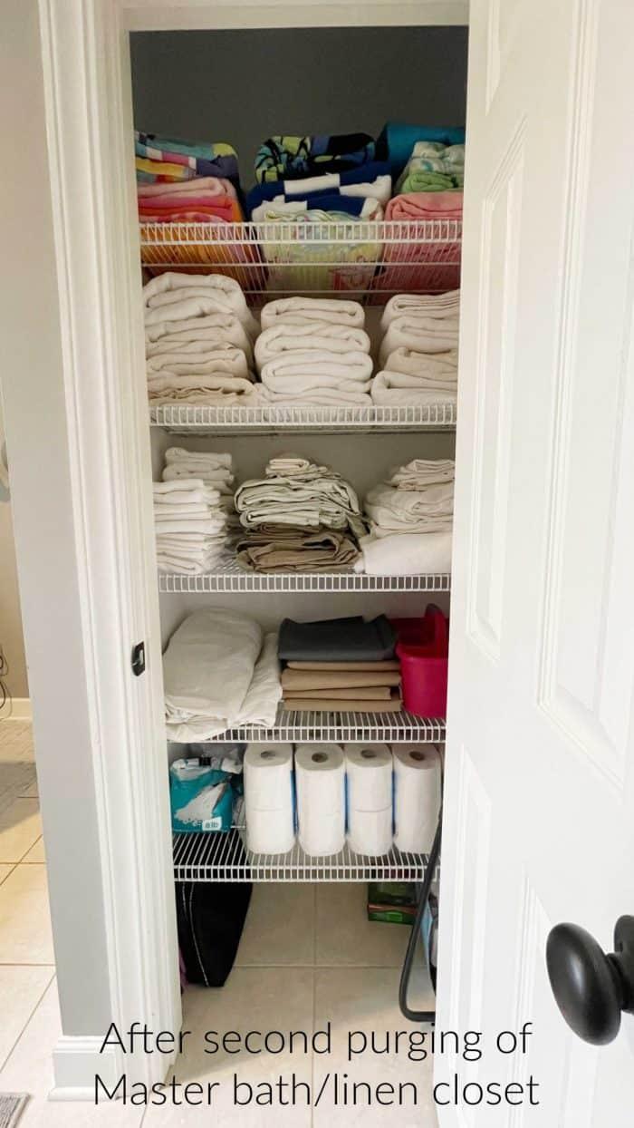 Declutter your bath closet