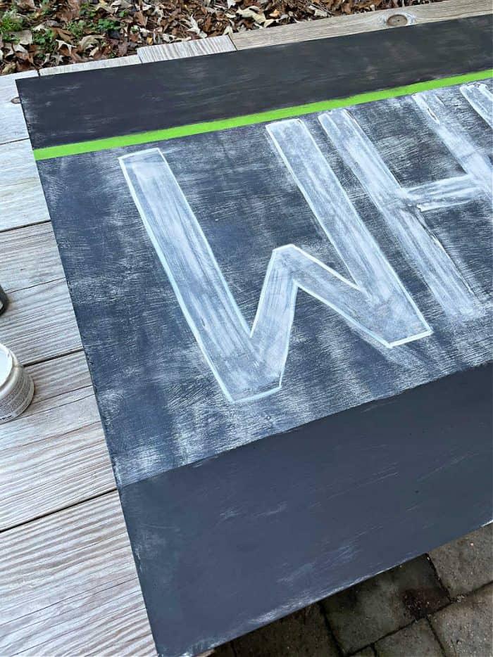 DIY Vintage Look Wood Sign Layers