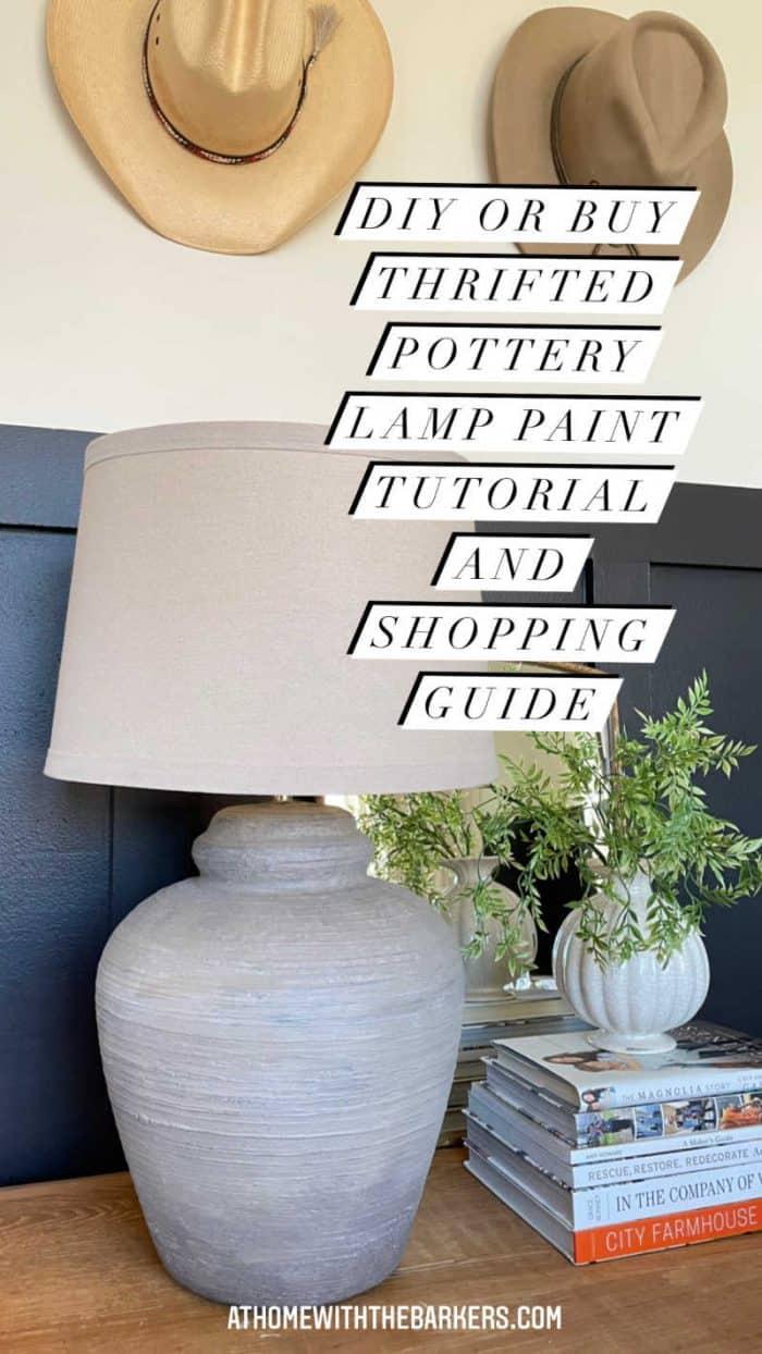 DIY or BUY pottery lamp