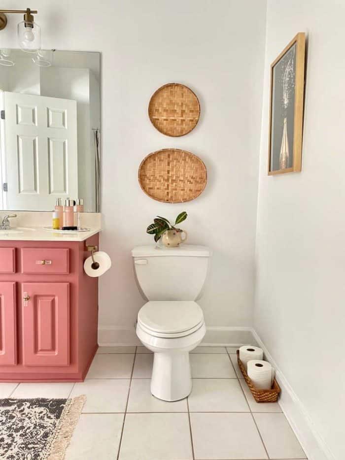 Fushion mineral paint enchanted echinacea bathroom makeover