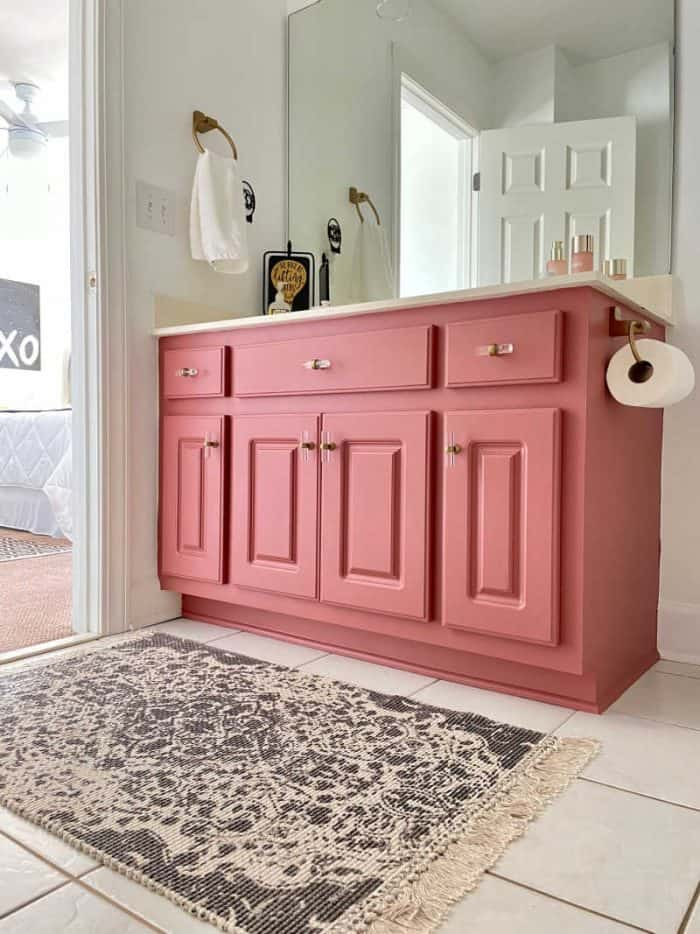 Bathroom Makeover cabinet